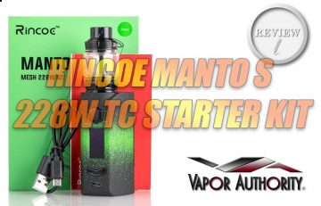 RINCOE Manto S REVIEW Spinfuel Vape