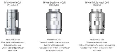 TFV16 REPLACEMENT COILS - SMOK TFV16 Sub-Ohm Behemoth – The King is Back? Let's Review