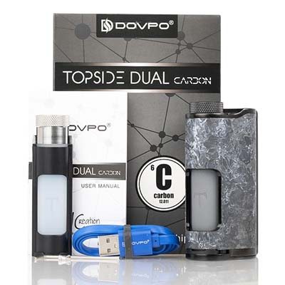 DOVPO Topside Dual Carbon Squonk Mod Review | Spinfuel VAPE