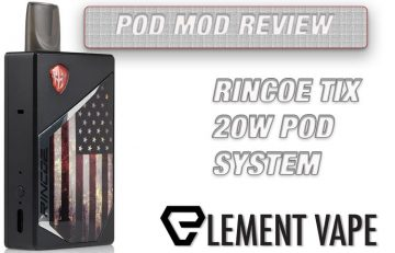 Feature Image - RINCOE TIX 20W POD SYSTEM REVIEW SPINFUEL VAPE