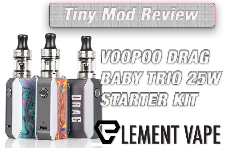 Voopoo Drag Baby Trio 25 Mod Kit Review SPINFUEL VAPE