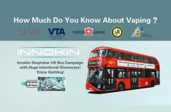 Innokin Technology launches London bus campaign for Stoptober: 'How much do you know about vaping?'