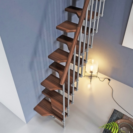 Space Saver Loft Stairs Archives Spiral Stairs Direct Blog   Converting Spiral Staircase To Straight   Wood   House   Stair Case   U Shaped   Loft Conversion