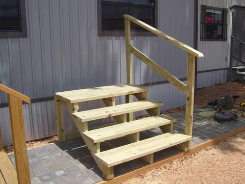 Useless Porches Spokane Porches | Wood Mobile Home Steps | Wooden | Pool | Outdoor | 8X12 Porch | Concrete