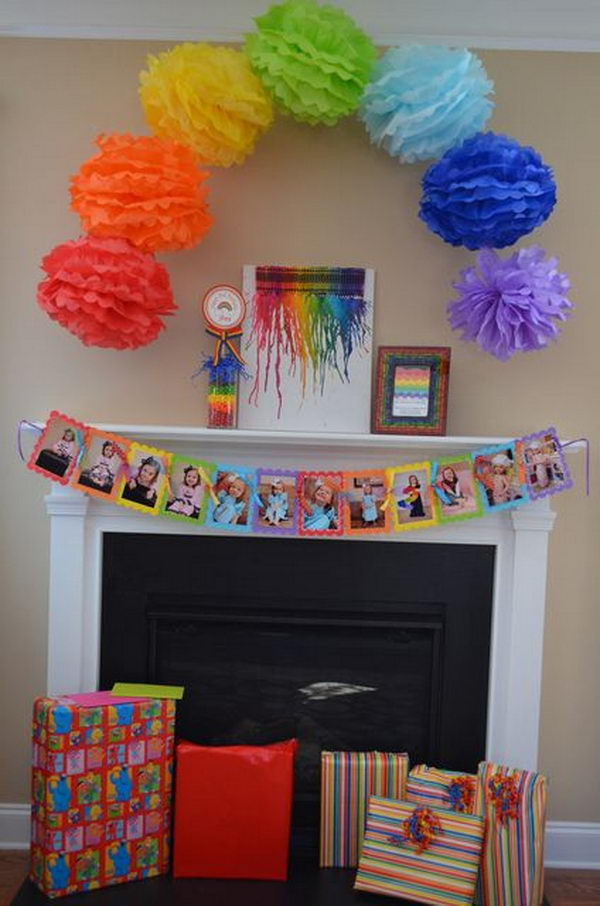 Diy Rainbow Party Decorating Ideas For Kids