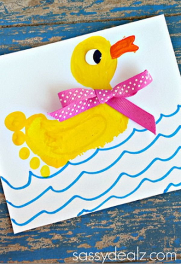 25 Fun And Beautiful Handprint Amp Footprint Crafts For Your