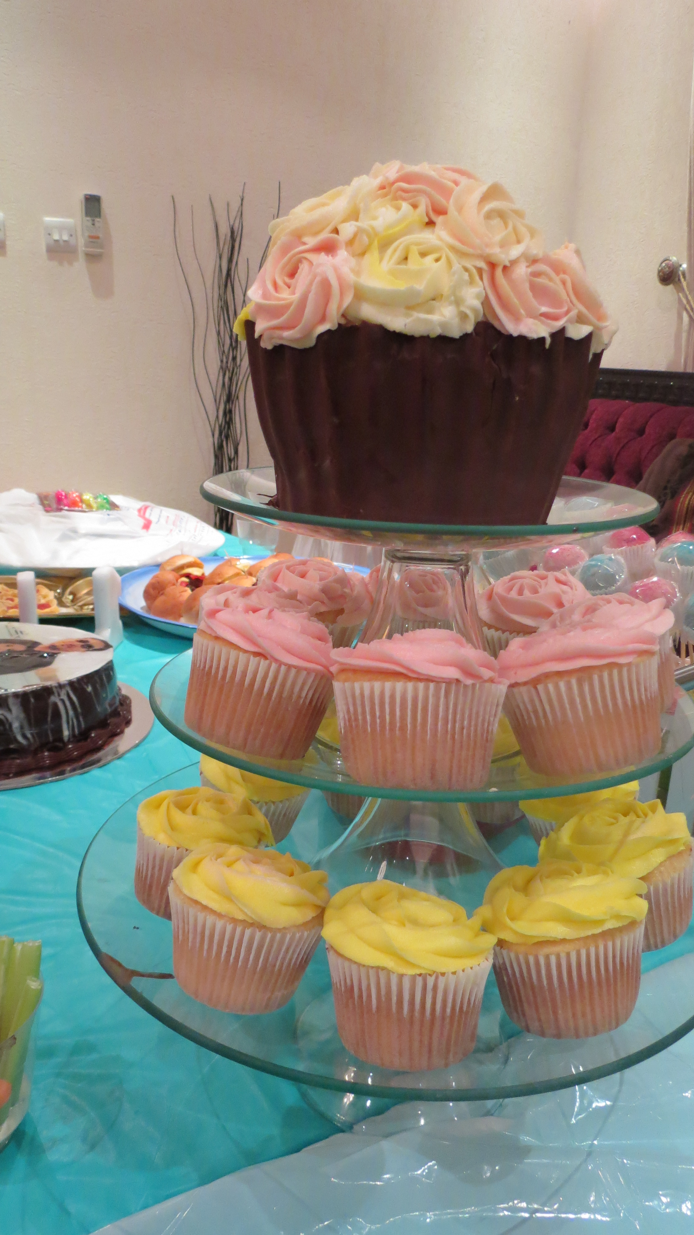 First Birthday Party Sprinkles Cupcakes