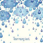 Clip Art Of Natural Phenomenon Water Raining Raindrops Rain Shower Cloudy U19993768