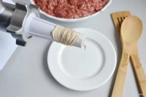 """Печеночные колбаски с рисом """"Домашние"""" - фото шаг 9"""