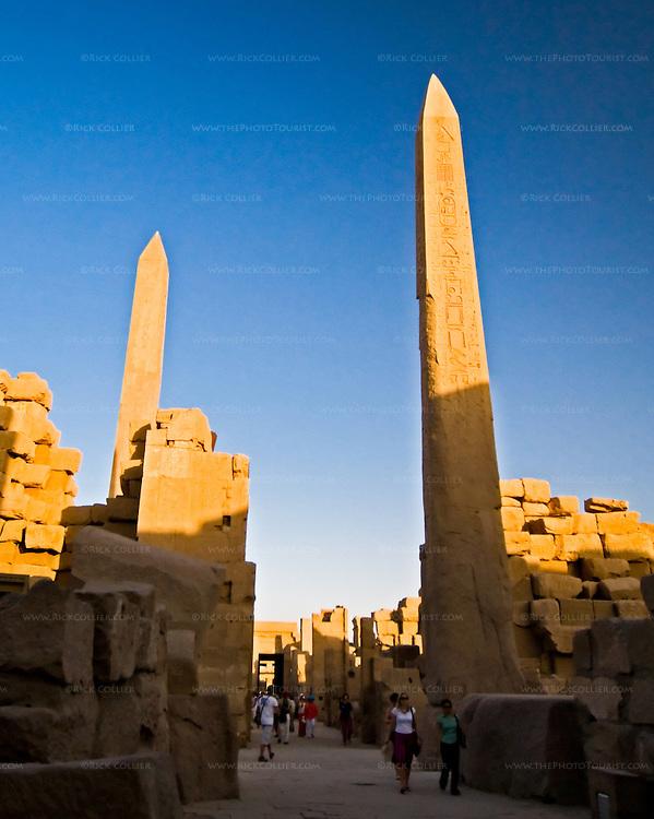Obelisks Karnak Temple Luxor