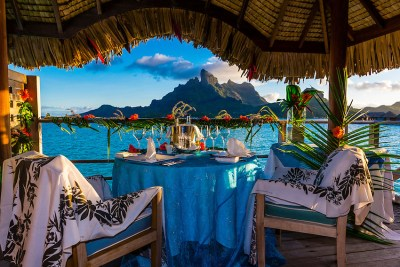 Romantic private catered dinner on the deck of an ...