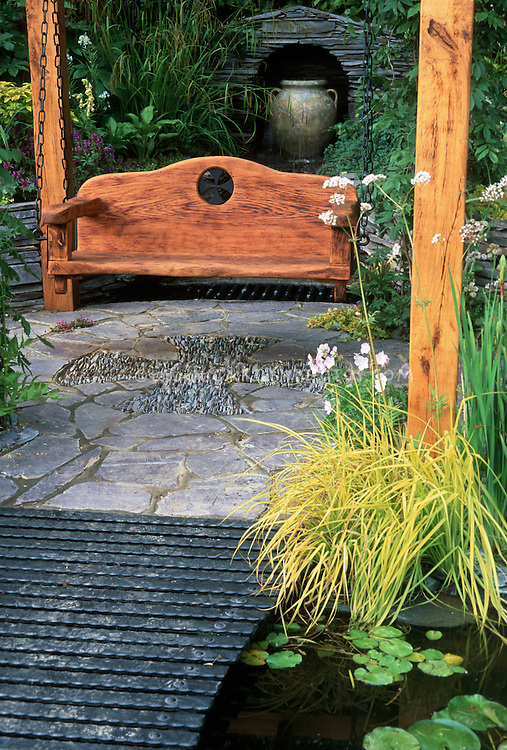 Celtic Cross Mosaic Circular Patio Amp Garden Bench Swing