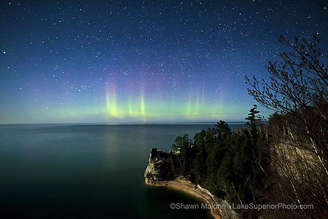 Northern Lights Pictured Rocks