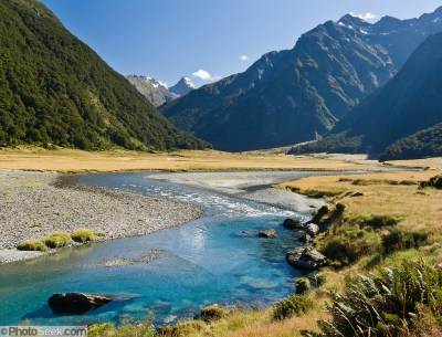Siberia Valley, Mount Aspiring National Park, South Island ...