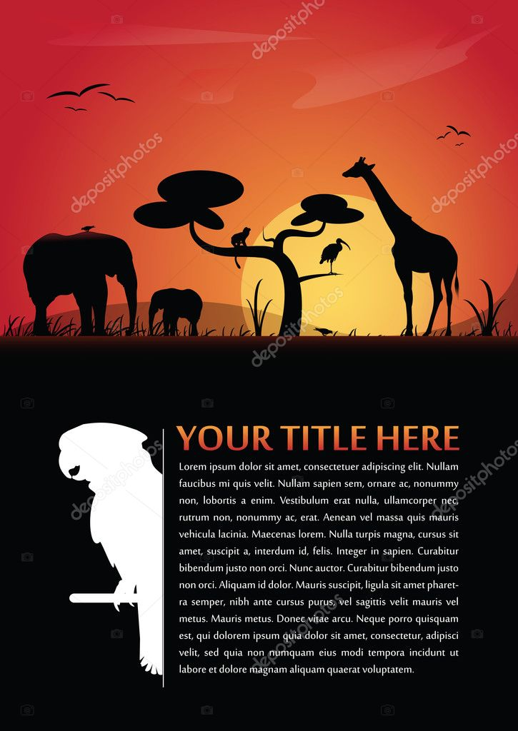Image of: Mask Vector Abstract Background With African Animals Stock Vector Depositphotos Vector Abstract Background With African Animals Stock Vector