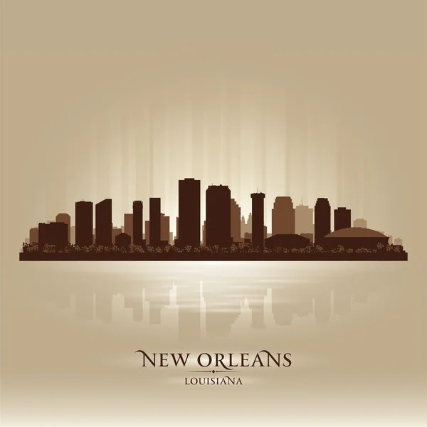 New Orleans Louisiana skyline city silhouette — Stock ...