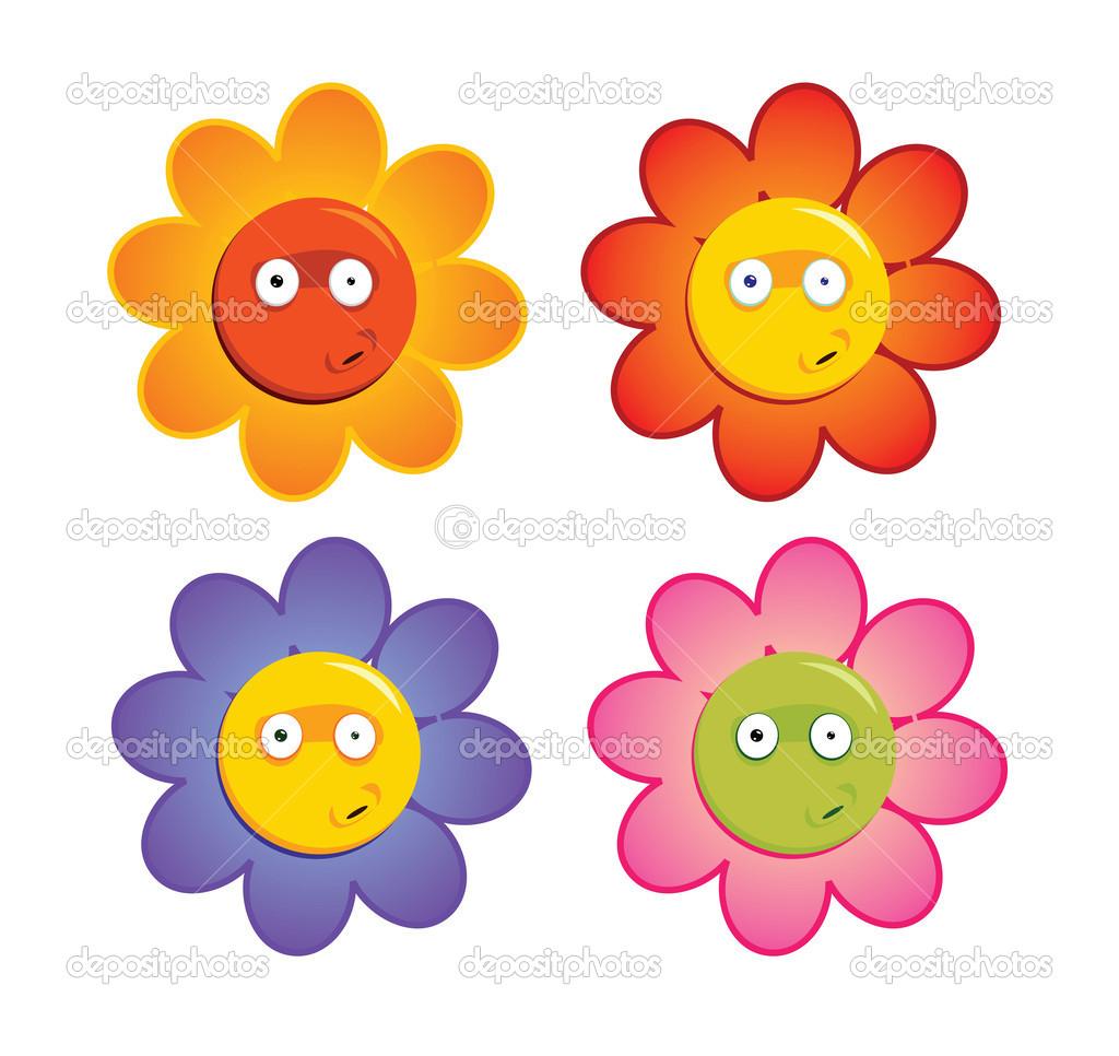 Spring Flower Cartoon Clip Art