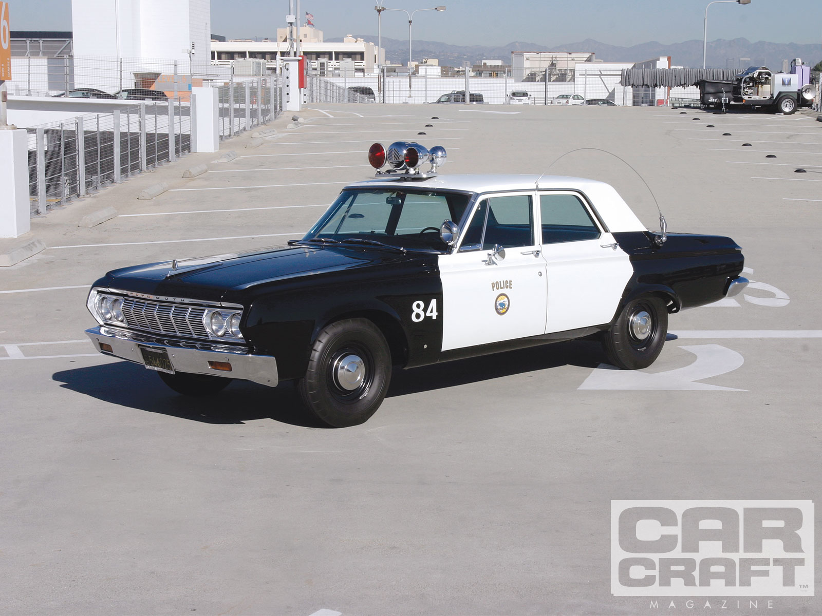 Santa Monica Police Department s  64 Plymouth Savoy   Quick Cars     Ccrp 1104 01 O Santa Monica Police Departments 1964 Plymouth Savoy Side View