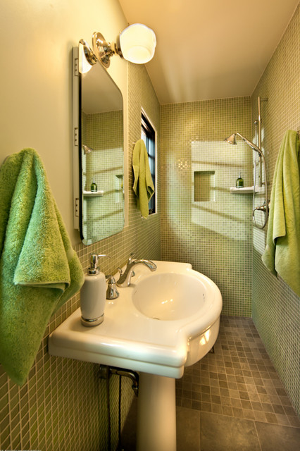 Streamline Moderne Contemporary Bathroom Denver By