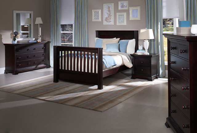 Camelot Crib Converted Into Full Bed Traditional Kids