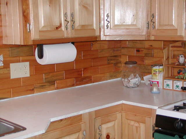 Kitchen Back Splashes Using Our Wooden Wall Tiles