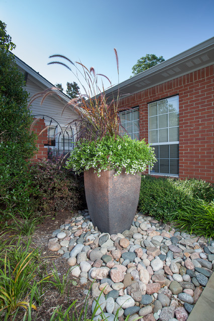 Large River Rock Landscaping