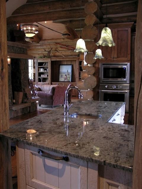Koselig Log Cabin Interior Photo Contemporary Kitchen