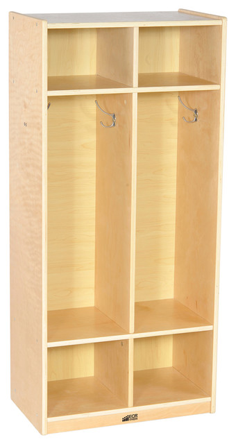 Ecr4 Kids Home 2 Section Straight Books Coat Shoes Storage ...