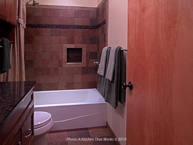 Early Split Level Bathroom Remodel Transitional