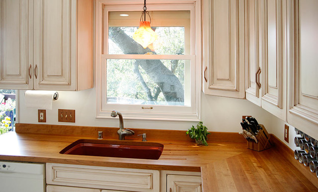 Cherry Wood Countertop With Sink By Grothouse