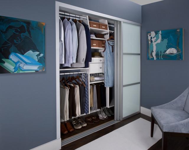 His Amp Hers Reach In Closet Modern Closet New York
