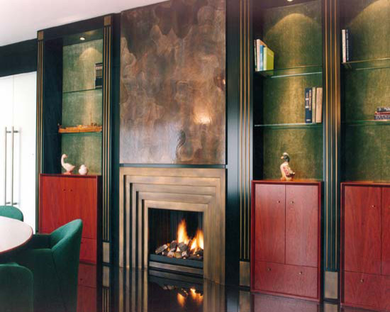 Art Deco Fireplace Vienna Transitional Living Room