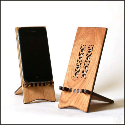 Shelf DIY  Free Wood iphone stand plans iPhone Stand   Flower   Modern   Desk Accessories   philadelphia   by