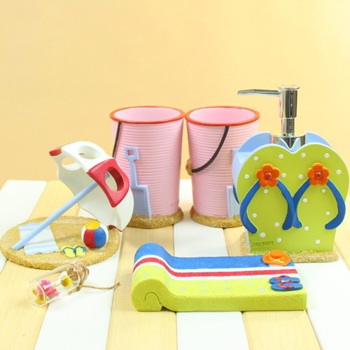 Beach Bathroom Accessories Sets