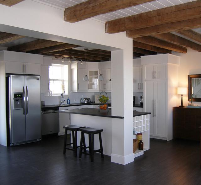 Coastal Warehouse Loft Beach Style Kitchen Other