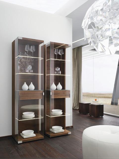 Nox Walnut Modern Display Cabinets Modern Buffets And
