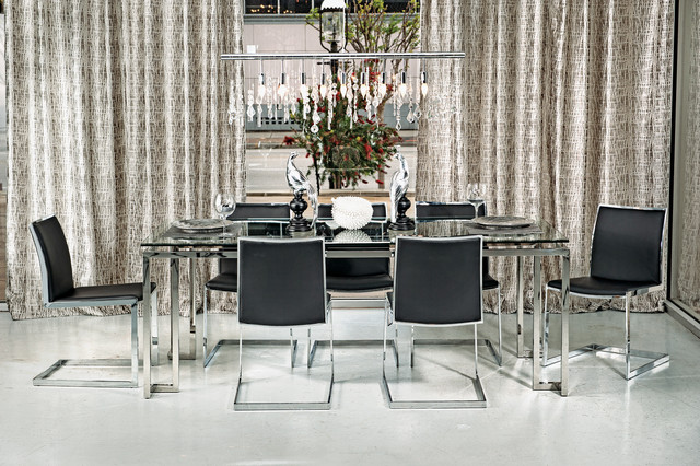 Tessa Dining Table Mono Chrome Modern Dining Room