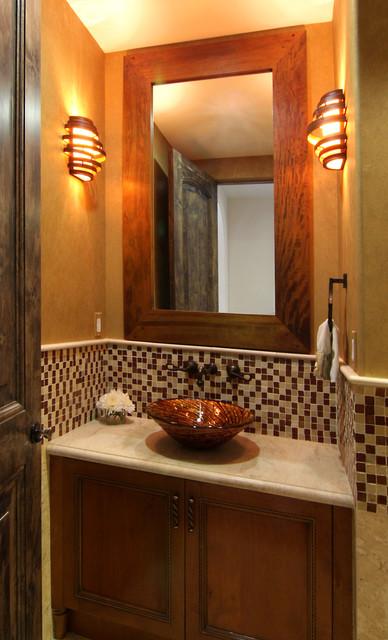 Modern Spanish Mediterranean Bathroom Los Angeles