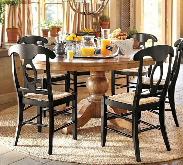 Wooden Drop Leaf Pedestal Tables