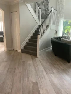 Wood Look Tile Downstairs What To Do Upstairs | Wood Look Tile For Stairs | Weathered Wood Distressed | Ceramic | Bedroom | Rocell Living Room | Porcelain