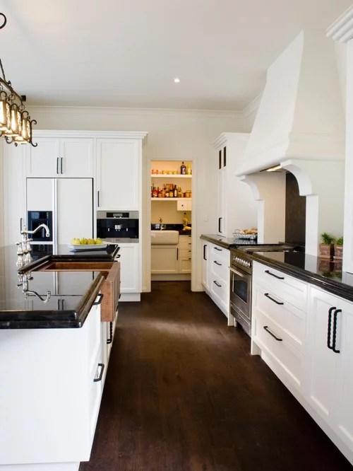 White Cabinet Dark Floor Houzz