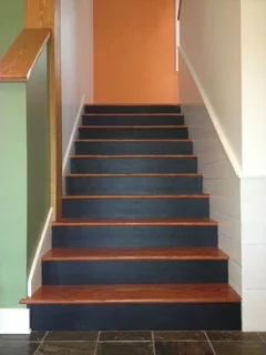 Pros And Cons Of Painted Stair Treads | Painted Stairs With Carpet | Middle | Design | Diamond Pattern | Victorian | Laminate