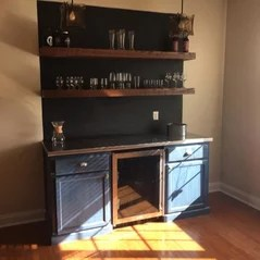 Worthy s Run Furniture   Hagerstown  MD  US 21740 Custom Wine Bar and Floating Shelves