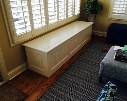 Freestanding Storage Bench Window Seat