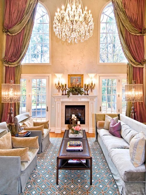 Two Story Drapes Home Design Ideas Pictures Remodel And