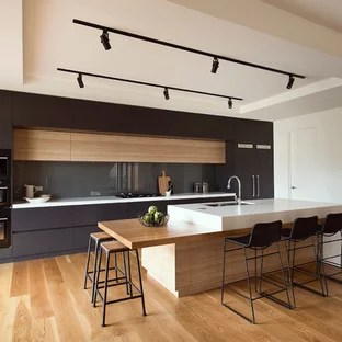 75 Modern Kitchen Design Ideas   Stylish Modern Kitchen Remodeling     Mid sized modern kitchen appliance   Kitchen   mid sized modern galley  medium tone
