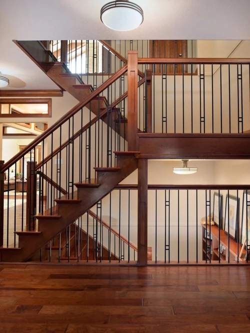 Stair Railing Home Design Ideas Pictures Remodel And Decor | Craftsman Style Stair Railing