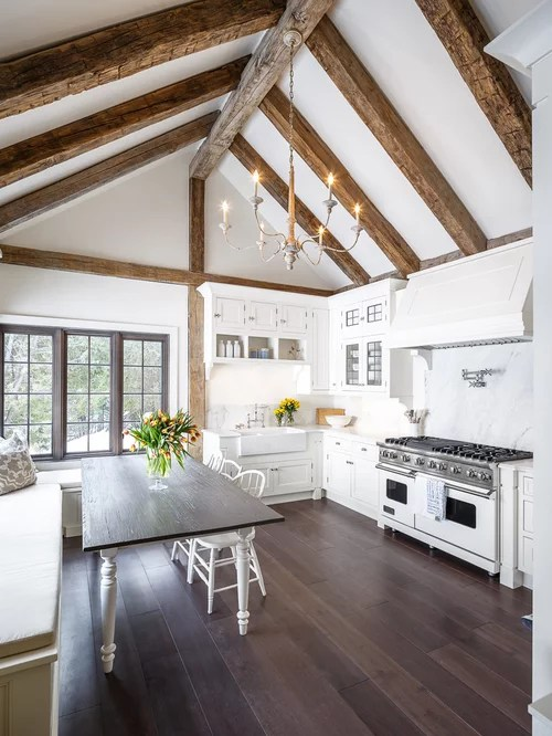 L Shaped White Kitchen Designs