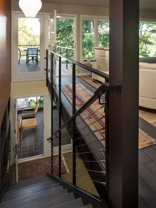 Midcentury Staicase Railing Houzz | Mid Century Modern Stair Railing