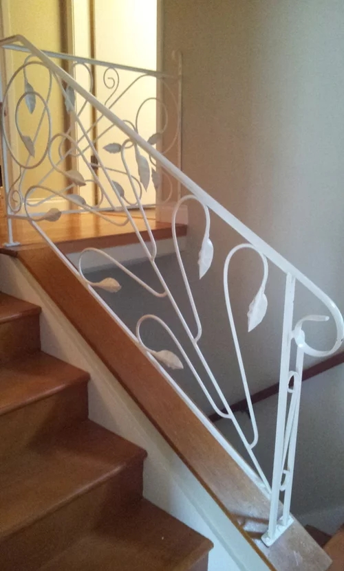 Ideas On How To Update Wrought Iron Stair Railing | Iron Handrails For Stairs Interior | Wall Mounted | Balcony | Dark Brown | Room Divider | Custom